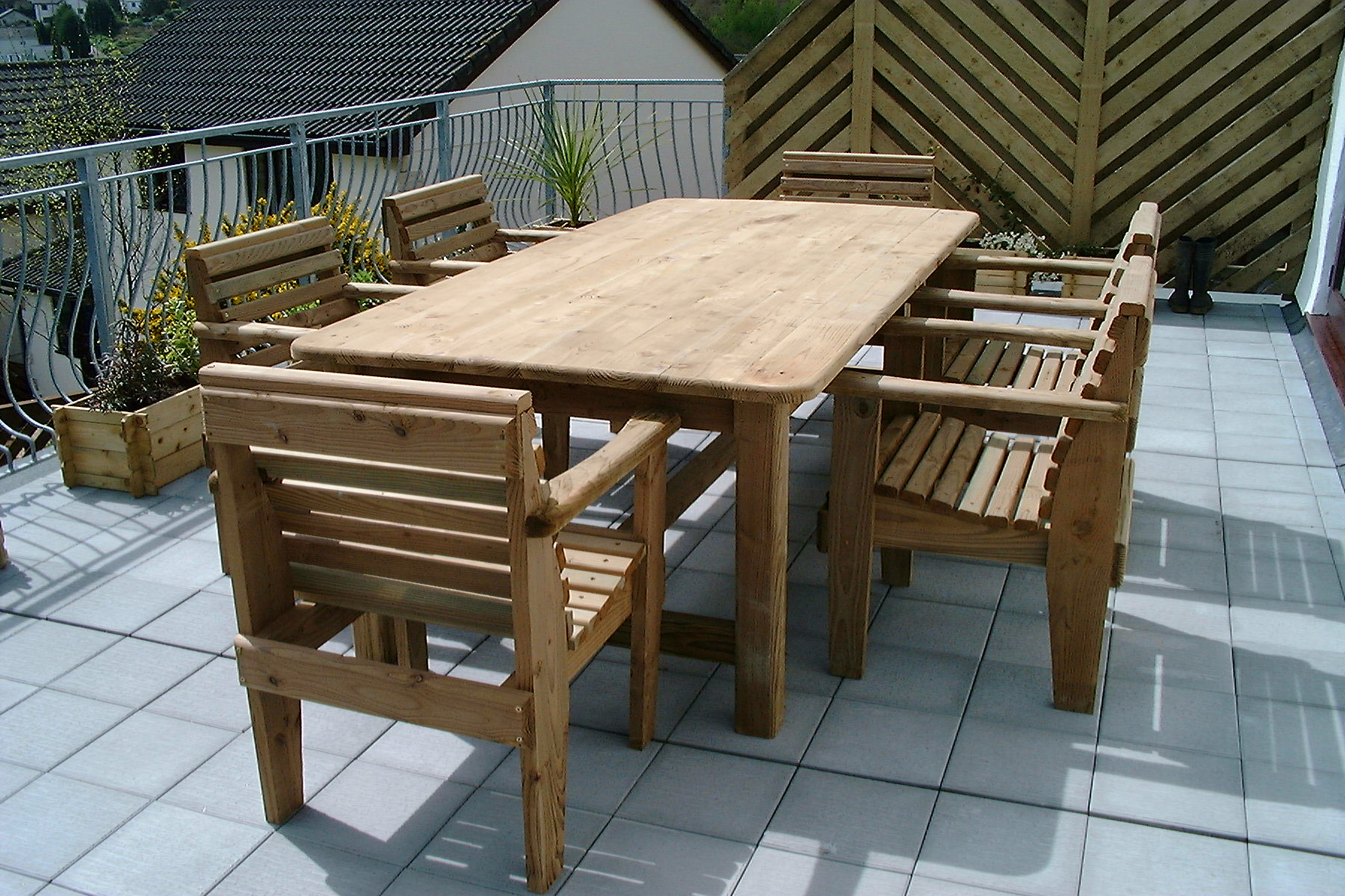 garden furniture made from decking been done on demand of a party - Garden Furniture Decking