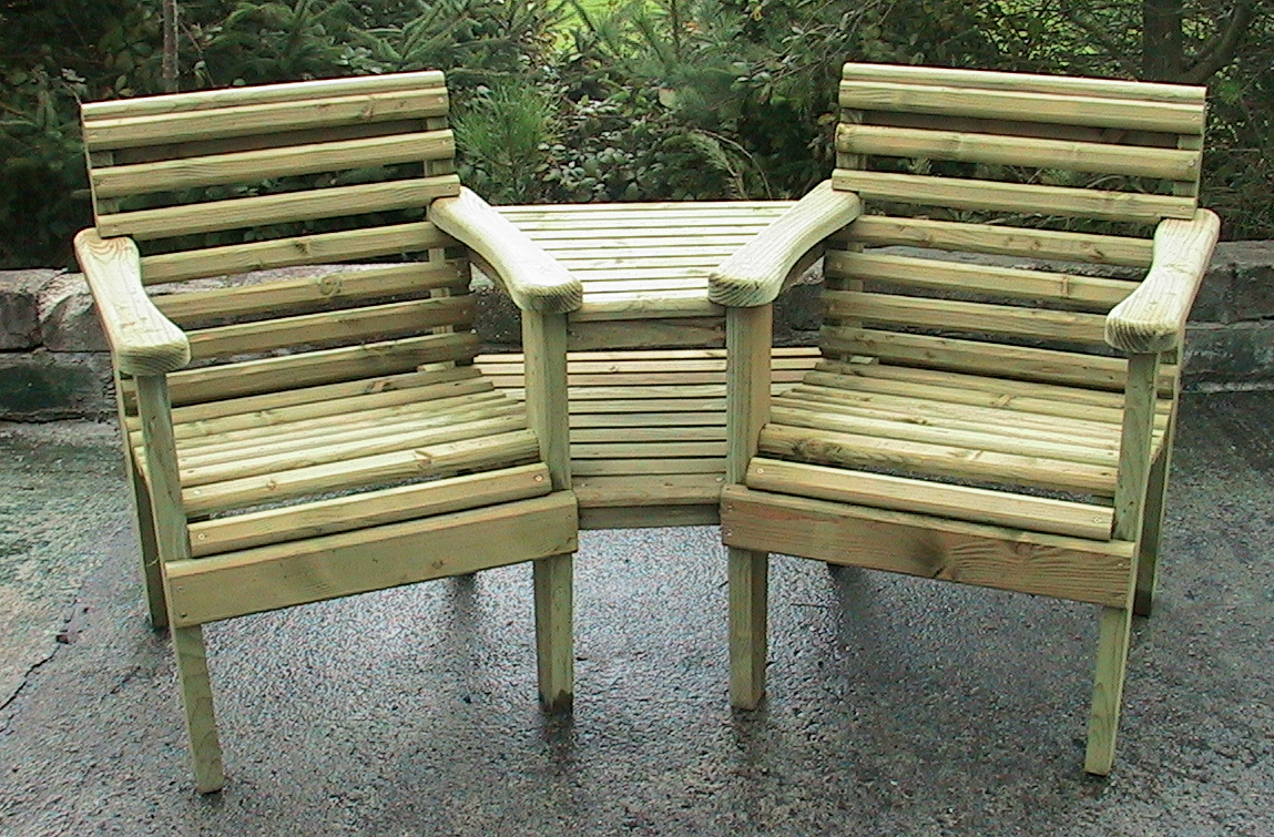 Attractive Garden Seats And Table Part - 2: Truro Sawmills